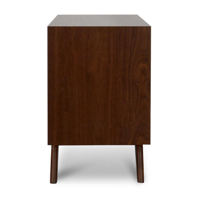 Nora 2 Drawer Bed Side Table in Walnut