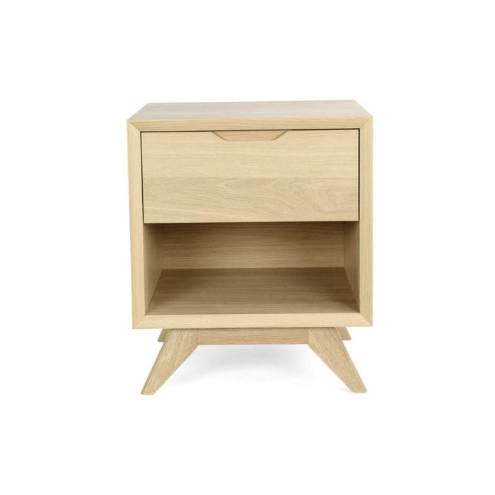 Nora Scandinavian Lamp Side Table - Natural