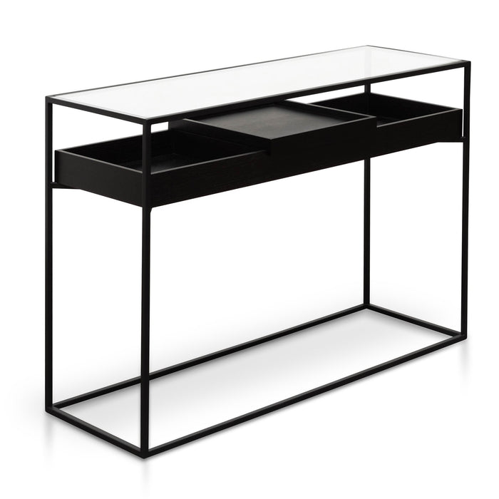 Norman  Metal Frame Console - Black