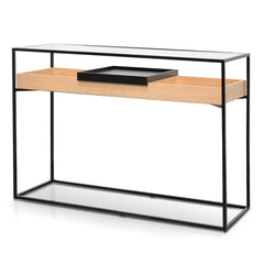 Norman Metal Frame Console - Natural - Black