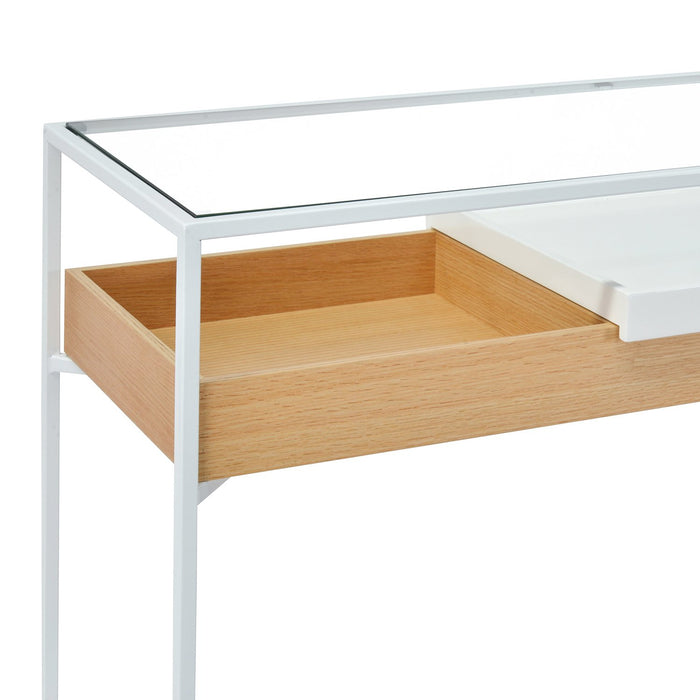Norman Metal Frame Console - Oak