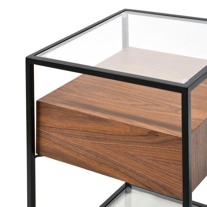 Norman Scandinavian Side Table - Walnut