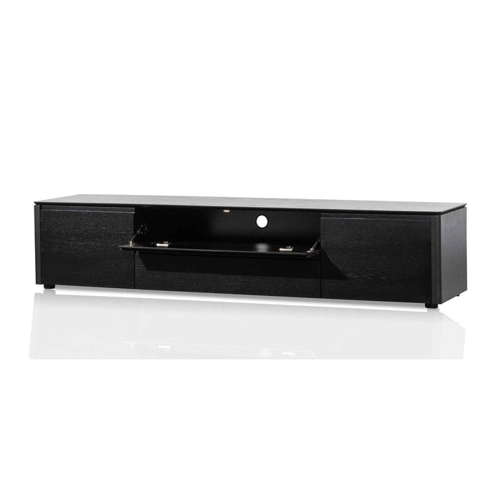 Norris 2m Entertainment TV Unit with Middle Drawer - Black Oak