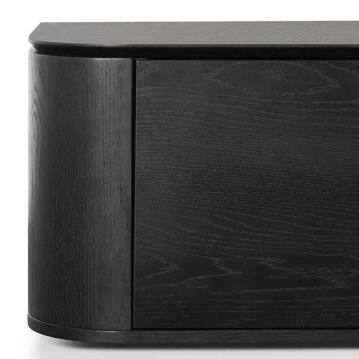 Curve 2.4m TV Entertainment Unit - Black Oak