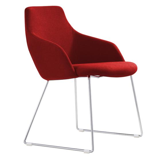 Okari Fabric Lounge Chair - Red