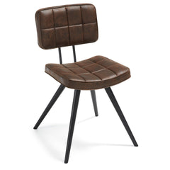 Olympus Leather Dining Chair Seat Brown