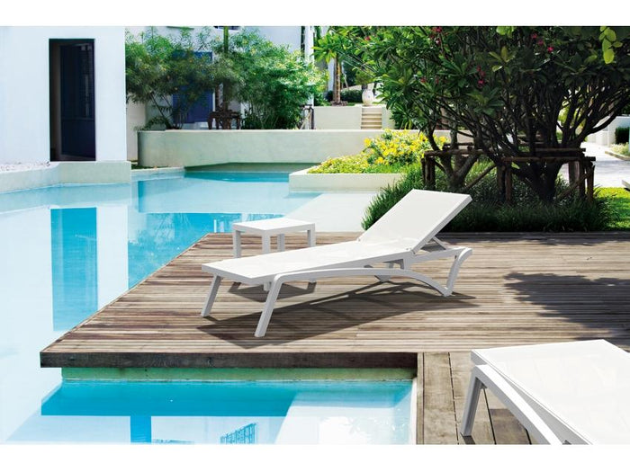 Pantha Outdoor Sun Lounger - White