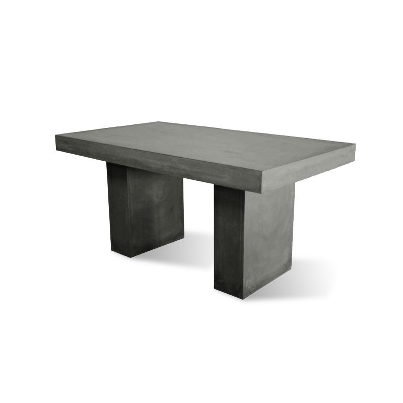 Peninsula Rectangular Dining Table: Peninsula 2m Concrete Outdoor Dining Table