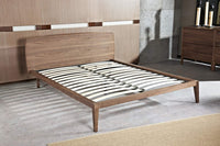 Penley King Sized Bed Frame - Walnut