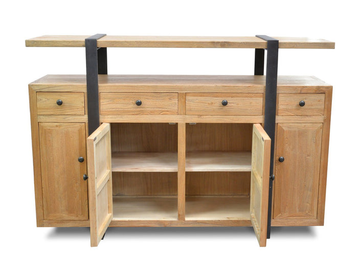 Phoenix Recycled Elm Timber Natural Sideboard Buffet