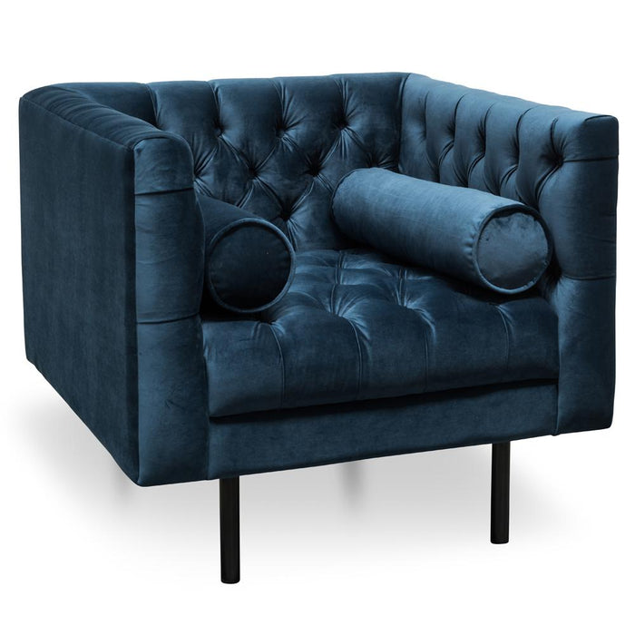 Pilla Armchair - Navy Blue
