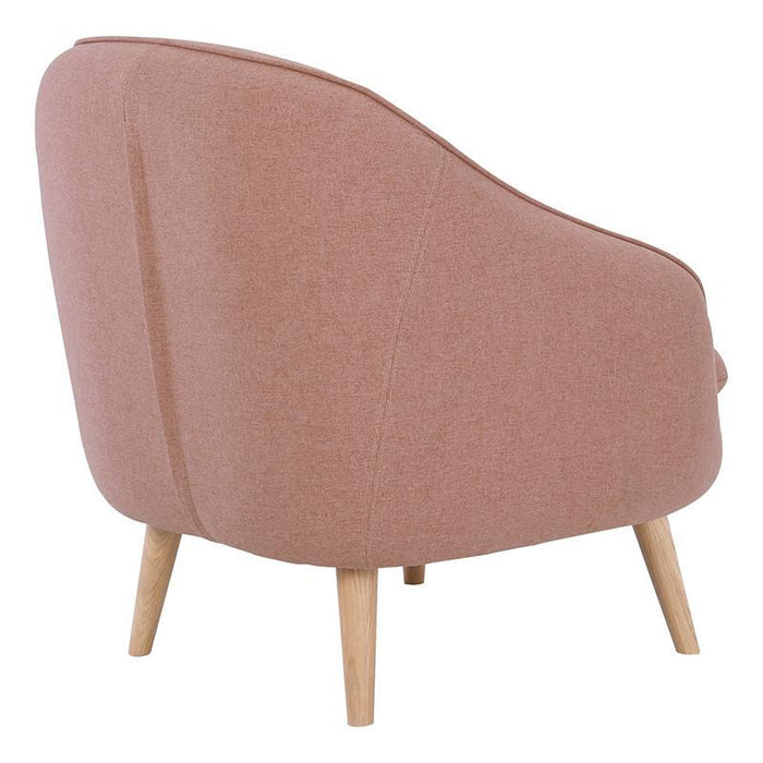 Pippa Fabric Armchair - Dusty Rose