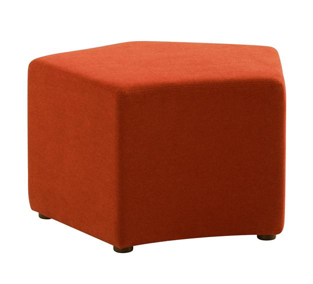 Play Fabric Ottoman - Orange