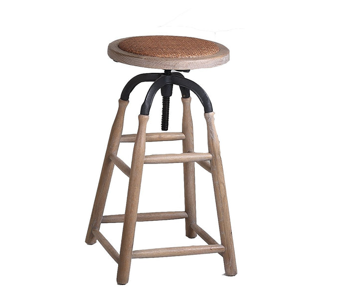 Porter Industrial Rustic Steel Bar Stool