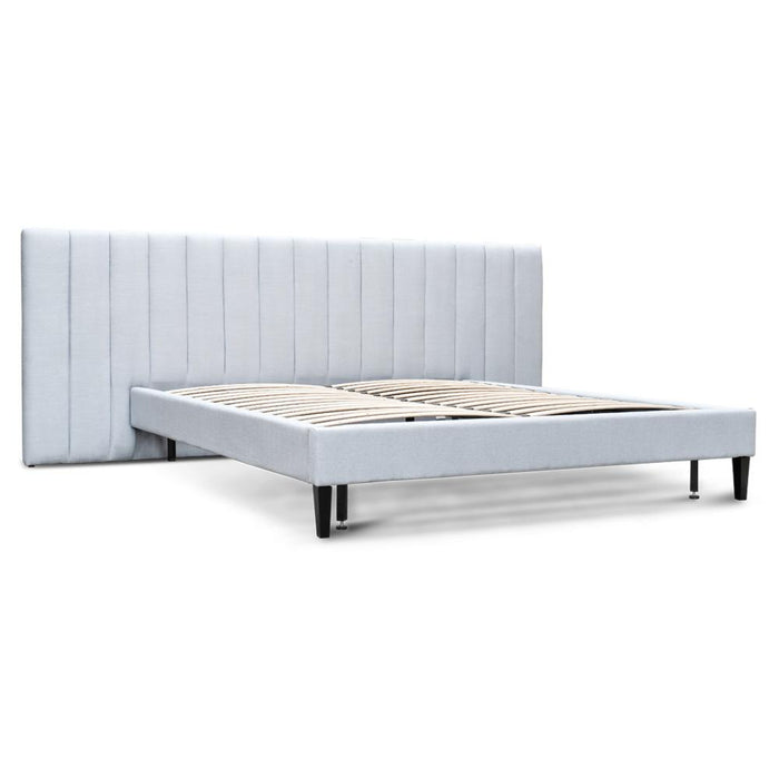 Ralph King Bed Frame - Cement Grey