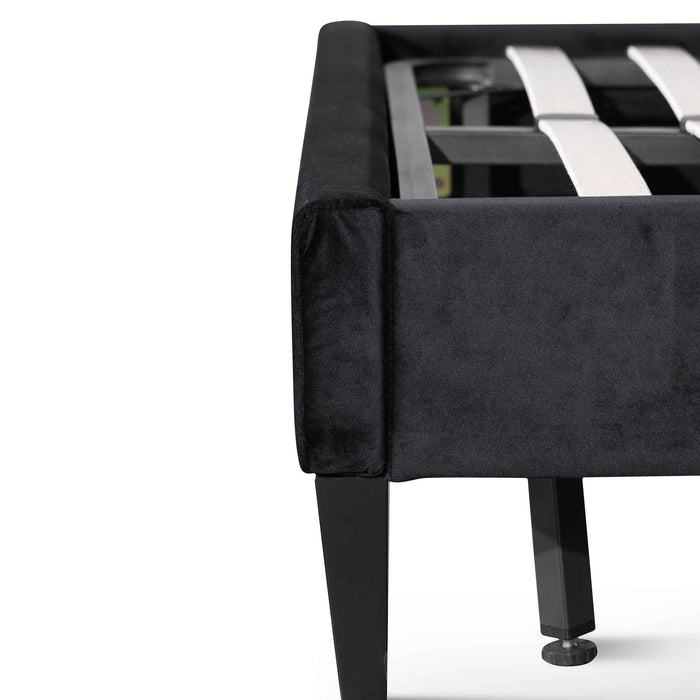 Ralph Queen Bed Frame - Black Velvet