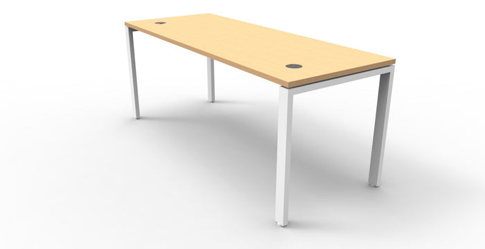 Rapid Infinity 1 Person 1.8m Single Sided Workstation -  BEECH - Profile Leg