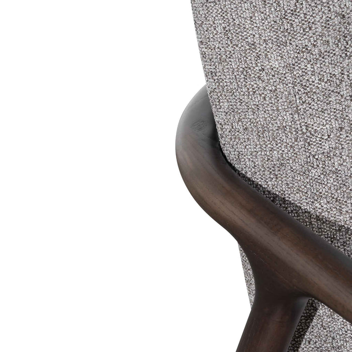 Reeves Fabric Armchair - Rock Grey with Black Legs