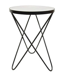 Regina Marble Side Table - Black/White