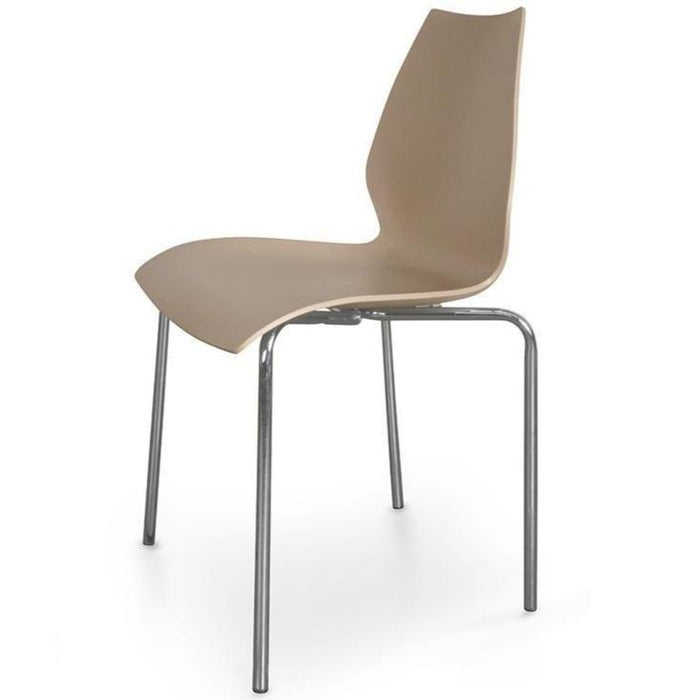 Replica Vico Magistretti Maui Brown Dining Chair