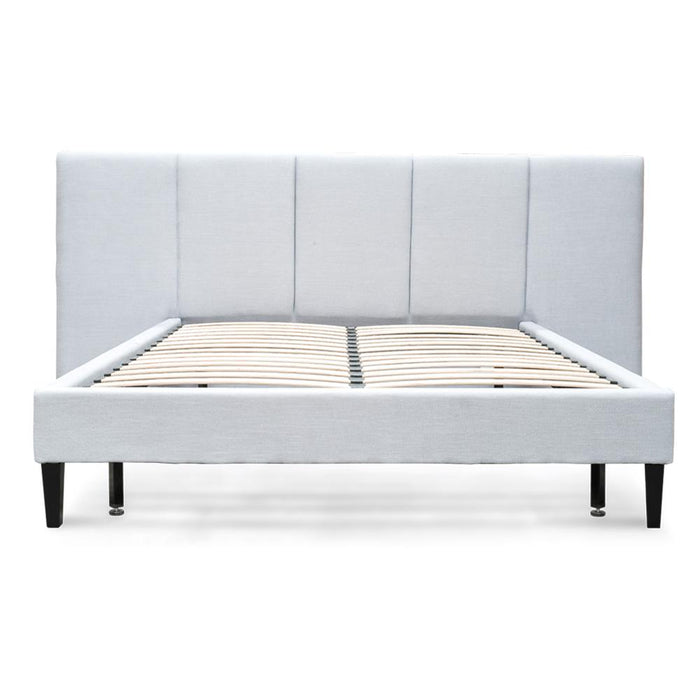 Reylon King Bed Frame - Cement Grey