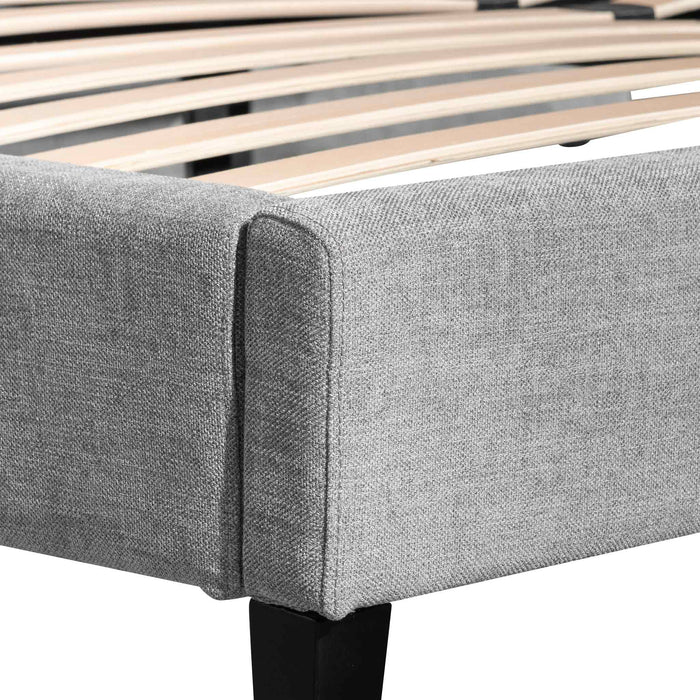 Reylon King Bed Frame - Flint Grey