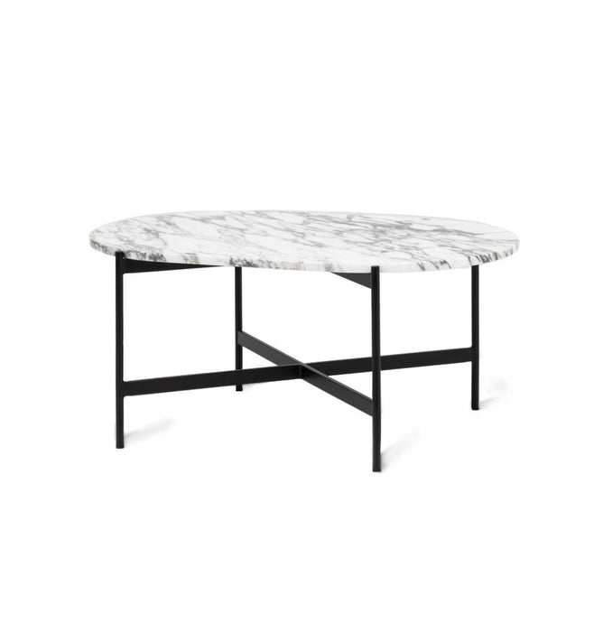 Rhonde Oval Marble Coffee Table - White