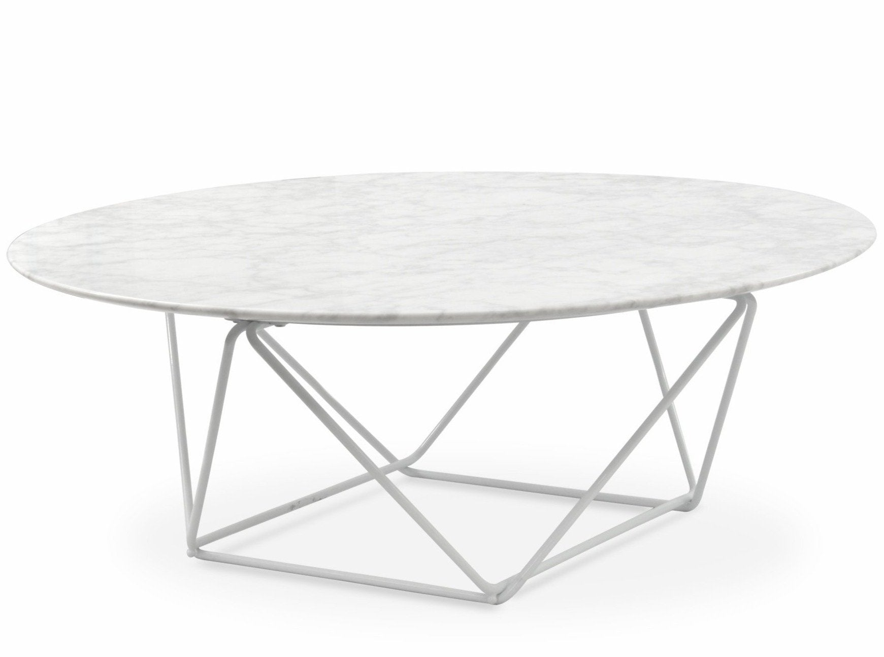 Robin 100cm Round Marble Coffee Table White Base Interior Secrets
