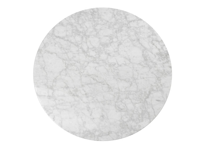 Robin 100cm Round Marble Coffee Table - White Base