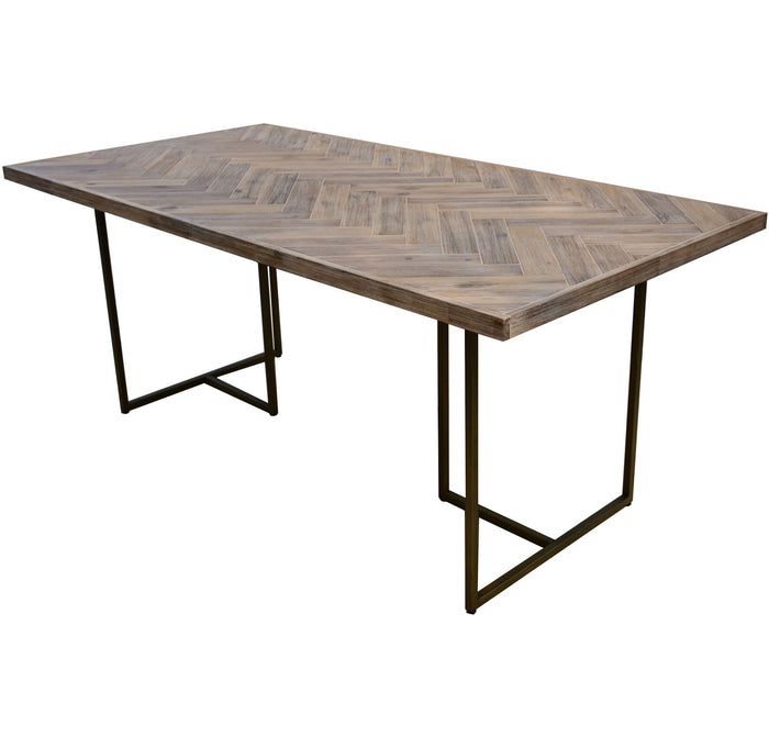Roma 1.8m Herringbone Dining Table - Oak