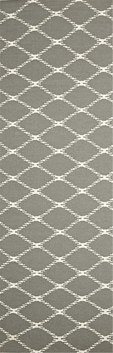 Rover Flat Weave Designer Hall Runner - 80 x 300cm - Seaside Grey(Discontinued)