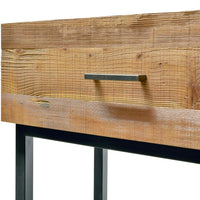 Royce 1.2m Reclaimed Pine Console Table - Black Base