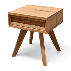 Santiago  Lamp Side Table With Drawer - Rustic Oak