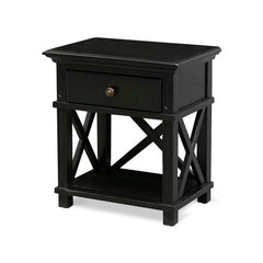 Satarra Black Timber Bedside Table