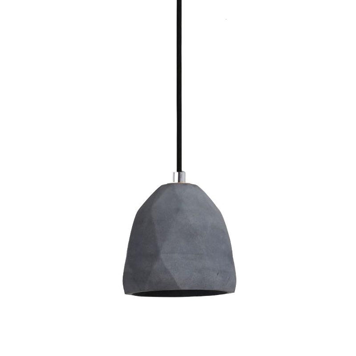 Sawyer Raw Concrete Pendant Light - Dark Grey