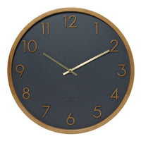Savanna 35cm Silent Wall Clock - Charcoal