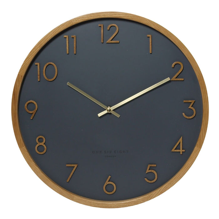 Savanna 50cm Wall Clock - Charcoal