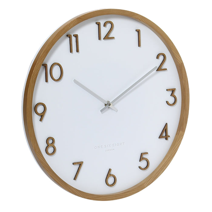 Savanna 50cm Wall Clock - White