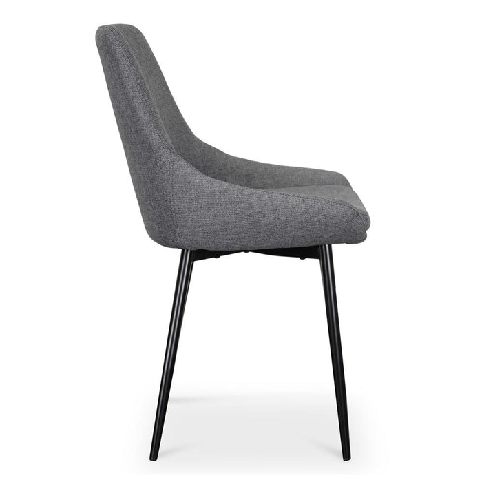 Set of 2 - Alfie  Dining  Chair -  Dark Grey