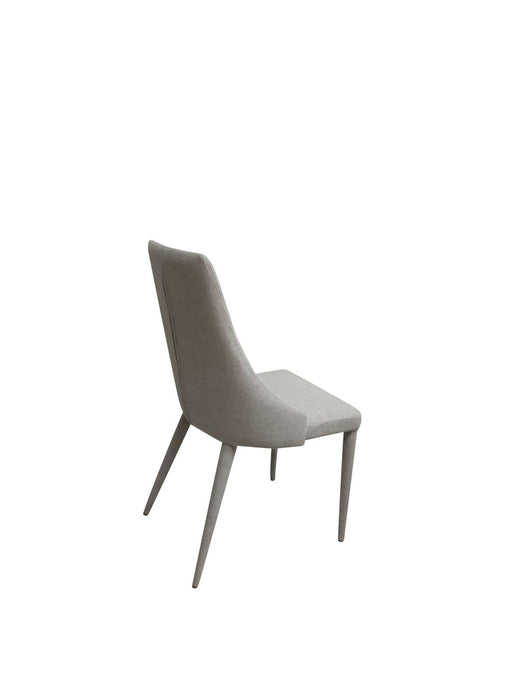 SET OF 2 - Burgess Fabric Dining Chair - Silver