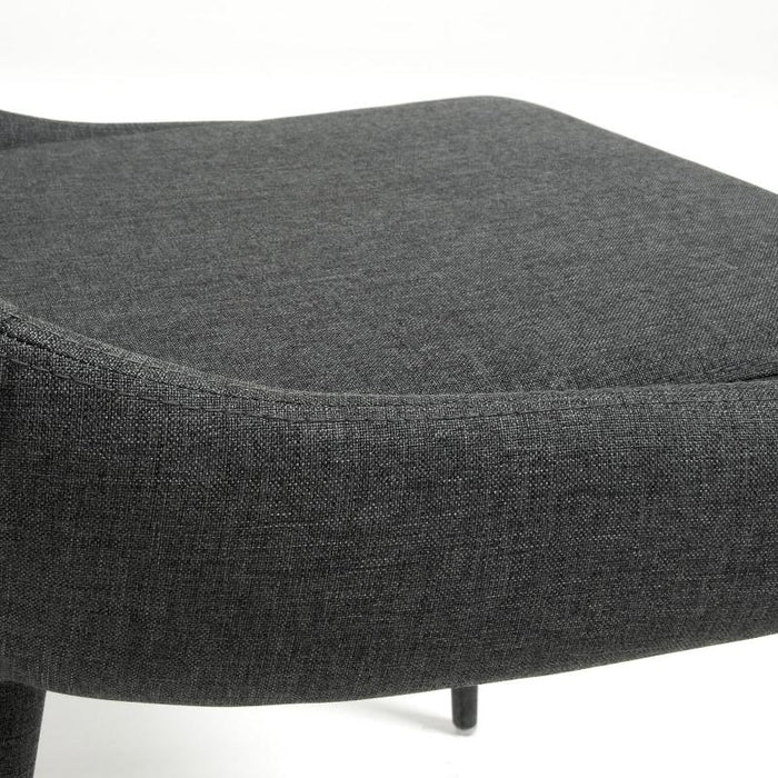 SET OF 2 - Dant Fabric Dining Chair - Dark Grey