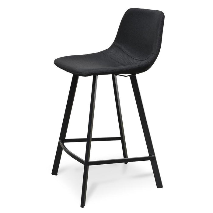 Set Of 2 - Duke 65cm Bar Stool - Black