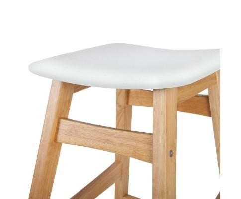 Set of 2 - Hannah  Rubberwood  Bar Stool White