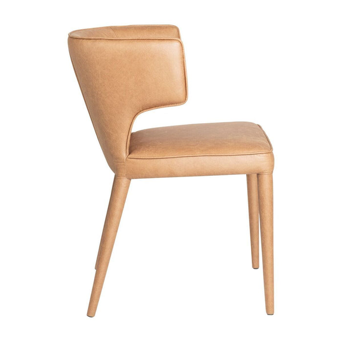 SET OF 2 - Porter Fabric Dining Chair - Tan