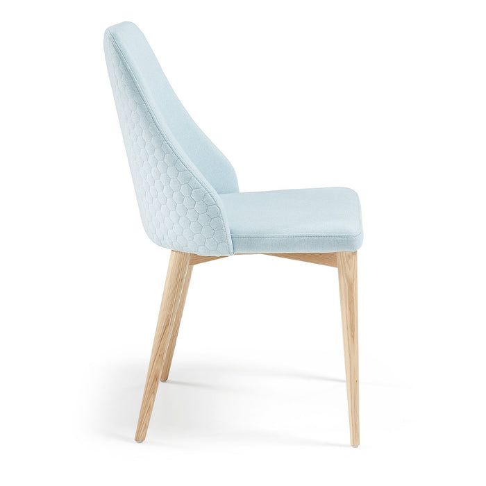 SET OF 2 - Roxie Quilted Dining Chair - Light Blue