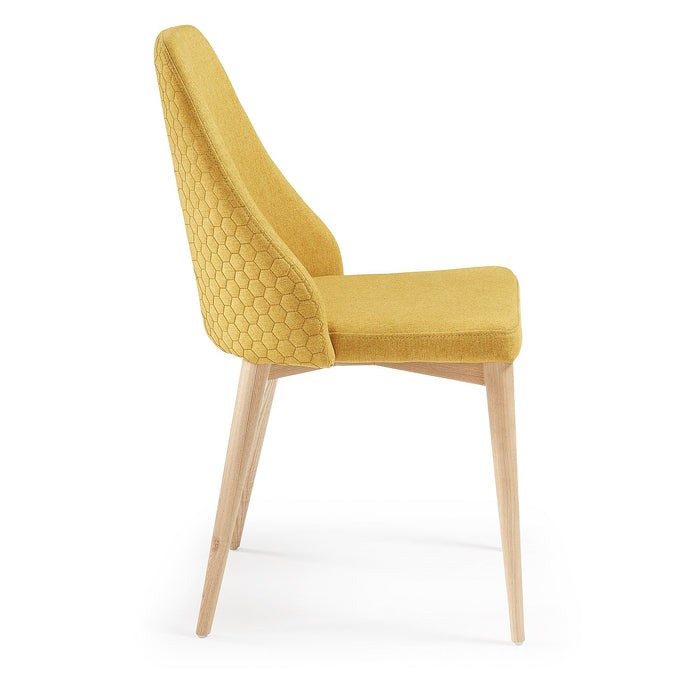 SET OF 2 - Roxie Quilted Dining Chair - Mustard