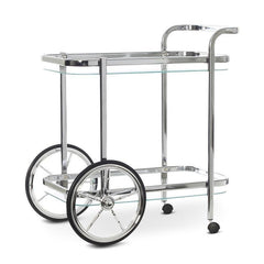 Smith Chrome Glass Bar Cart