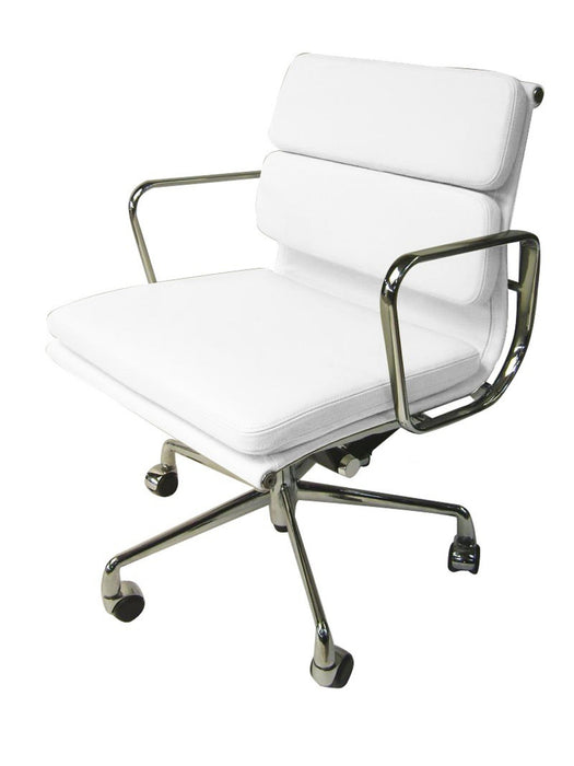 Soft Pad Management Boardroom Office Chair - Eames Replica - White