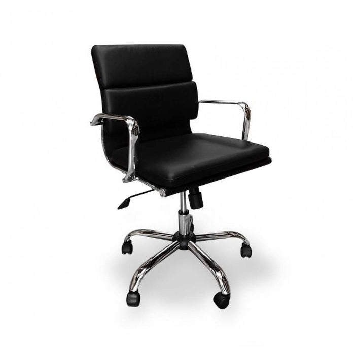 Soft Pad Management Boardroom Office Chair  - Black