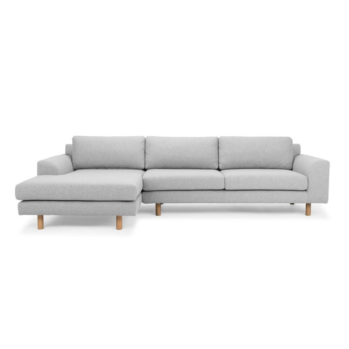 Sonia 3 Seater Left Chaise Sofa - Light Grey